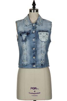 Pearl Embellished Vest