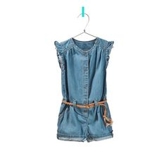 denim jumpsuit with frill details from Zara for kids