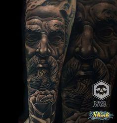 Portrait, Tattoos, Medellin Colombia, Tatuajes, Headshot Photography, Tattoo, Portrait Paintings, Drawings, Portraits