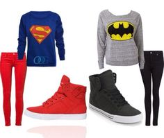 A fashion look from February 2013 featuring Forever 21 tops, 7 For All Mankind and Nudie Jeans Co. Browse and shop related looks. Superman Outfit, Batman Outfits, Batman And Superman, Swag Outfits, Casual Outfits, Fashion Outfits, Rock Outfits, Punk Fashion, Lolita Fashion