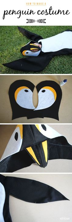 It just takes a few yards of felt, some wire and basic sewing skills to make your own DIY penguin costume! What a cute and warm costume idea for Halloween (and dress up play time any time of year)!  Get the pattern and how-to instructions here: http://www.ehow.com/how_2086691_make-penguin-costume.html?utm_source=pinterest.com&utm_medium=referral&utm_content=freestyle&utm_campaign=fanpage