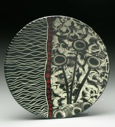 "Marcy Neiditz Ceramic Art, ""Inspiration comes from plant-life. the microscopic world, the idea of biological plant-like forms coming alive, growing, and aging. Branches, roots, bones, & microorganisms are ingredients that occupy my imagination, & provide inspiration. My work is wheel-thrown & hand-built, includes layering of glazes, slips & underglazes, incised sgraffito drawings and hand-painted surfaces."