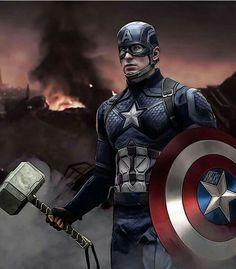 Captain America Thor's Hammer Marvel Dc Comics, Marvel Avengers, Marvel Films, Marvel Characters, Marvel Heroes, Marvel Cinematic, Captain Marvel, Logo Super Heros, Marvel Universe