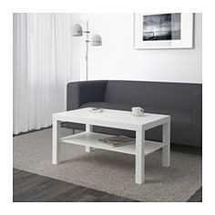 """IKEA - LACK, Coffee table, white, 35x22x18"""", , Separate shelf for magazines, etc. helps you keep your things organized and the table top clear."""