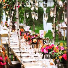 What an absolutely perfect outdoor setting!!! Image source unknown.  #partyideas #partyplanner #partystyling #partyplanning #partystylist #eventdesign #eventplanner #lights #wedding #weddingideas #weddingdlowers #weddingplanner #weddingphotography #diyparty #diywedding #beautiful #thepartyatelier  #weddingtable #tableideas #tablescape #tablesetting #love #lights #photooftheday