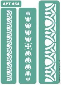 трафарет 054 - зелёный,трафарет,трафареты,Декупаж,декупаж и роспись,материалы для творчества