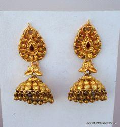 vintage 20k gold earrings dangle ethnic by indiantribaljewelry, $968.00