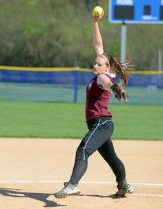 Oriskany softball remains undefeated with 14-7 win over New York Mills on Friday, May 3, 2013. Pictured: Oriskany pitcher Jordan Sahl winds up during a Center State Conference softball game against New York Mills. #sports #softball STORY: http://www.uticaod.com/sports/x94503429/Oriskany-softball-remains-undefeated-with-win-over-New-York-Mills