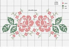 Free double rose cross stitch chart #stitching #flowers