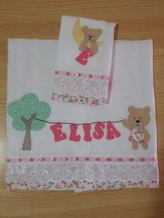 Fralda bordada em patchwork   Artesãs filhas de Inêz   Elo7