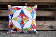 Kaleidoscope Pillow by Jeni Baker, via Flickr