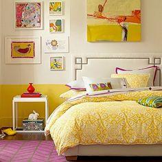 tenn room bedding in sunny yellow #terrificteensroom  #whereisyoungamerica