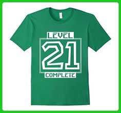 0ee2d3830a Mens Level 21 Complete - Video Gamer Geek 21st Birthday T-Shirt Small Kelly  Green