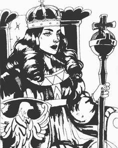 The Empress Tarot Card by TheArtOfVero.deviantart.com on @DeviantArt