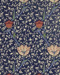 Garden Tulip Indigo/Brick from William Morris & Co