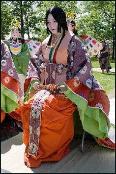 Heian Period Clothes Still a matriarchal family system;