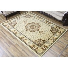 Bekmez Rug Super Belkis Ivory Machine-made Polypropylene Area Rug (5' x 8') (Ivory), Size 5' x 8'