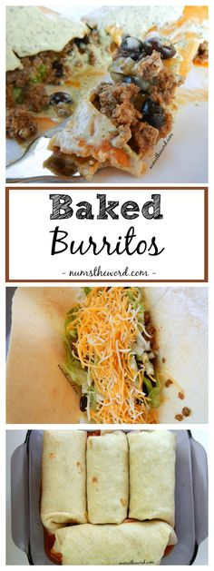 Baked Burritos are an easy weeknight meal everyone will love. Baked in enchilada sauce for extra flavor, this tasty dish also makes a great freezer meal!