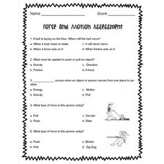 force and motion worksheets – streamclean.info