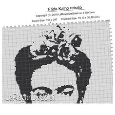 Frida Kahlo Modern cross stitch pattern by LeRayonDeSoleil on Etsy