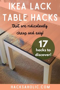 The Ikea Lack table is one of the most basic pieces of Ikea furniture. There is so much you can do with an Ikea Lack hack. These Ikea Lack hacks are the best out there. #ikealackhacks #lackhacks #lacktablehack #ikeahack Lack Table Hack, Ikea Lack Hack, Ikea Lack Side Table, Stencil Table Top, Stenciled Table, Stenciled Floor, Ikea Furniture Hacks, Ikea Hacks, Hidden Games