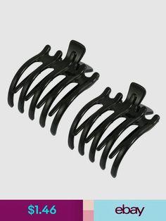 2 Pcs BLACK Medium Size Hair Jaw Claw Clip Claw Clamp 3-1//2 inch FASHION VINTAGE