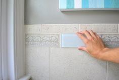 Removing An Old Shower Tile Border | Young House Love