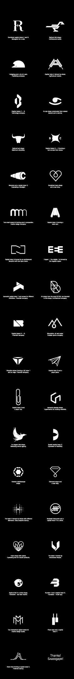 Marks & Monograms by Dimiter Petrov, via Behance