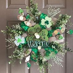 Excited to share this item from my shop: St Patricks Day Wreath St Pats Day Wreath Green Wreath Shamrock Wreath Irish Wreath Luck of the Irish Wreath Front Door Wreath St Pats Decor Holiday Wreaths, Holiday Crafts, Holiday Decor, Spring Wreaths, Winter Wreaths, Summer Wreath, Wreaths For Front Door, Door Wreaths, Ribbon Wreaths