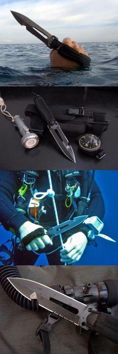 Extrema Ratio Ultramarine Multi purpose Fixed Dive Knife Blade @thistookmymoney