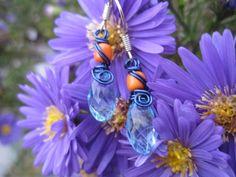 Ohrhänger - Kleine Tropfen-Ohrringe OktoberWelle - ein Designerstück von Behrenperlen bei DaWanda