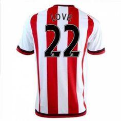 Sunderland AFC Home 16-17 Season Love #22 Red Soccer Jersey [I321]
