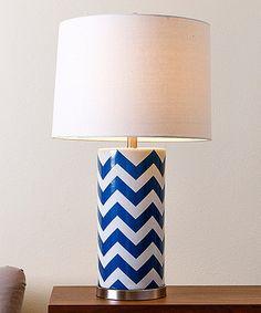 Loving this Navy Blue Chevron Marissa Table Lamp on #zulily! #zulilyfinds