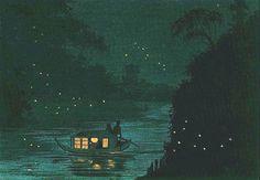 小林 清親(1847-1915)御茶水蛍 1880年 Kiyochika Kobayashi