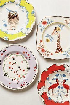 Platos decorativos de Anthropologie 1