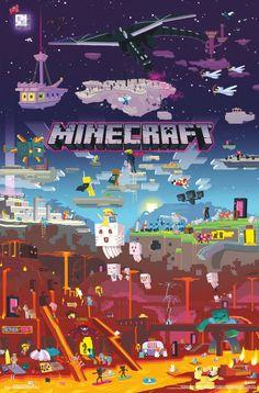 GB Eye Maxi Poster Motif Minecraft World Beyond, Multicolore Minecraft Posters, Minecraft Images, Minecraft Banner Designs, Minecraft Banners, Minecraft Kunst, Minecraft World, Minecraft Houses, Minecraft Mansion, Minecraft Bedroom