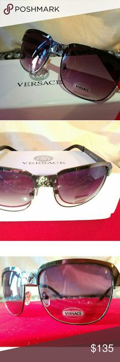 📌NEW ALERT●AUTH Unisex Versace Sunglasses 📌NEW ALERT BRAND NEW AUTHENTIC FRAME: Chrome rust/ round Comes with Versace case. Versace Accessories Glasses