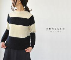 【楽天市場】DEMYLEE デミリー Alex/Henri ウールボーダーニット・421080119・421080120(全2色)(XS・S)【2014秋冬】[10P01Nov14]:Crouka(クローカ)