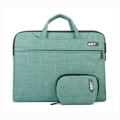 MKT Oxford Fabric Laptop Notebook Macbook Case Briefcase Bag Pouch Sleeve (13 inch, Green)