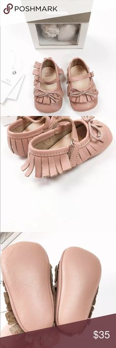 Zara mini leather girl shoes 3-6 sz 0.5 Gorgeous little shoes from Zara. 100% leather, strap with velcro closure. Come with box. My daughter was able to fit in these between 3 and 7 months. She is almost 8 and they are very tight on her foot. Zara Shoes Baby & Walker