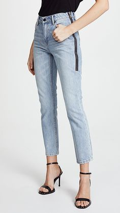 Denim x Alexander Wang Cult Side Zip Jeans | SHOPBOP