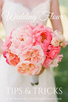 Wedding Flower Trends Tip & Tricks! Do you Love peonies but don't have the space in your budget? Want centerpieces that double as favors or place cards? Read on to learn how to save time, money, and your sanity when choosing your DIY wedding flowers. AWESOME DIY Wedding Flowers site with DIY Tutorials and Tips! http://howtodiyweddingflowers.com/