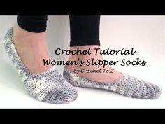 Crochet Slippers Free Pattern (Part 2) - YouTube