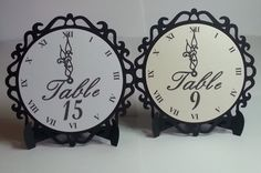 New Year's Eve Wedding Clock Table Numbers by WeddingTrousseau
