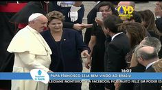 #Seguindoopapa - Papa Francisco desembarca no Brasil - 22 de Julho de 2013