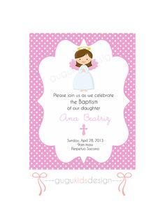 DIY Printable- Girl Baptism Invitation