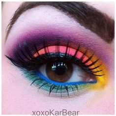 Love this amazing look Xoxokarbear created using her #Sugarpill eyeshadows! So fun and colorful!