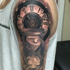 clock tattoo clocktattoo art on Instagram