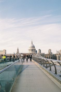 The Millennium Bridge between St Paul's Cathedral (nearly) and Tate Modern, both well worth a visit...
