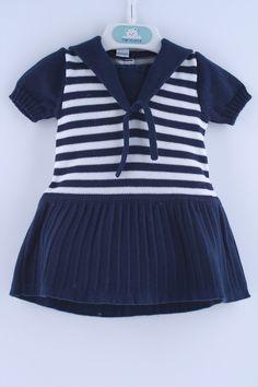 Vestido bebe Navy - 32372 | Pangasa Baby